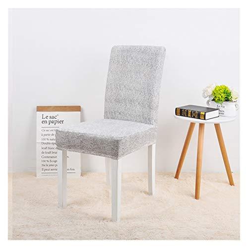 WQAZ Stuhlbezug 1/2/4/6 PCS-Stuhlabdeckung Gummizug für Esszimmer Moderne Abnehmbare Anti-Dirty-Küchen-Sitzkoffer Stretch-Stuhl-Slip-Cover Polyestermaterial (Color : Magnolia, Specification : 1 PC)