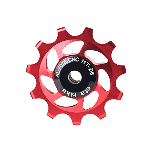 desviador Trasero Bicicleta roldanas Cambio MTB Teniendo polea Cerámica Rueda Jockey Rueda de Bicicleta de 13T Rueda de Bicicleta de 13T Red,1