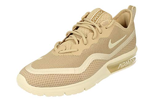 Nike Air Max Sequent 4.5 PRM Womens Running Trainers BQ8825 Sneakers Shoes (UK 4.5 US 7 EU 38, Desert ore Pale Ivory White 200)