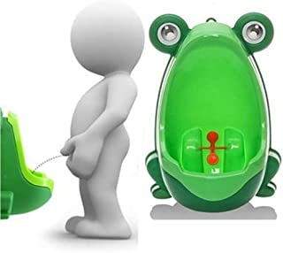 Baby Products Cartoon Frog Shape Kids Wall-Mounted Potty Toilet(Green) Baby Products (Color : Green)