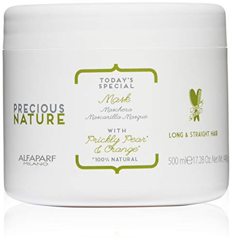 Price comparison product image Alfaparf Milano Precious Nature Long & Straight Hair Mask ,  Anti-Frizz ,  Enriched with Prickly Pear Oil and Orange Extract ,  Professional Salon Quality ,  Smooths and Softens ,  17.28 fl. oz.