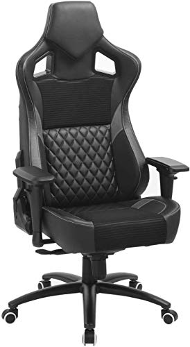 Big and Tall Computer Gaming Chair- Adjustable Office Chair with 4D Armrests and Headrest, Ergonomic Desk Chair, Swivel Drafting Task Chair with Tilt Lock, Hold Up to 350lbs
