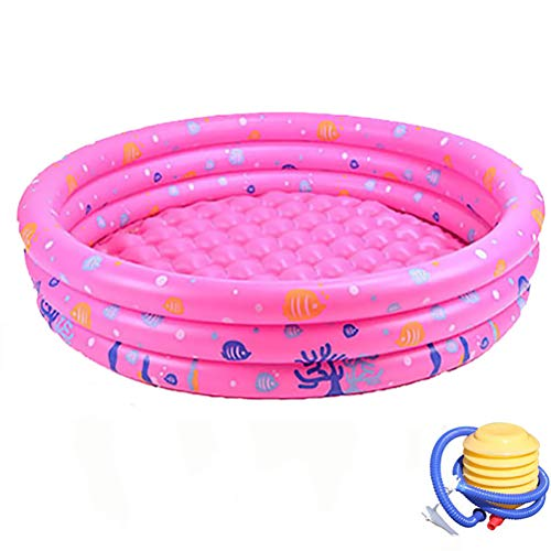 Portable opblaasbaar zwembad met pomp voor de zomer Partij van de Familie opblaasbaar kinderzwembad Bad Kids Oceaan Ball Pool,Pink,150cm