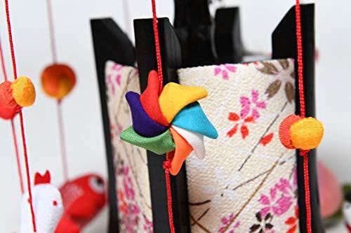 人形の伏見屋『縁起の傘福つるし「みやび白布」小(TSI3-770)』