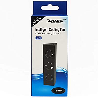 Mcbazel DOBE Intelligent External Auto Temperature Control 3-Fan Cooling Fan Cooler for PS4 Slim Gaming Console [NOT for PS4 PS4 Pro]