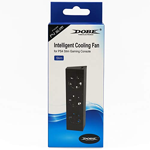 Mcbazel DOBE Control de temperatura automático externo inteligente Enfriador de ventilador de 3 ventiladores para consola de juegos Slim PS4 (NO para PS4 o PS4 Pro)
