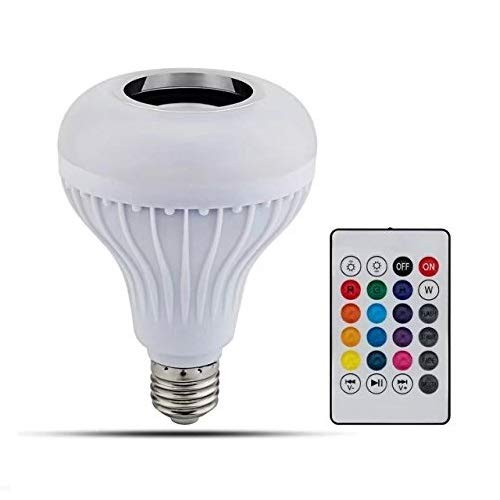 JahyShow LED RGB Color Bulb Light E27 Bluetooth Control Smart Music Audio Speaker Lamps