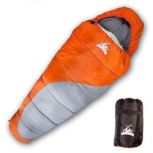 FRATIK Sac de Couchage Enfant Hiver Grand Froid - Sacs de Couchage Compact Ideal pour Enfants en Camping - Ultra léger et Compact pour 4 Saisons - Température Extreme 0 degré