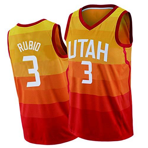 HTKJG 15#Favors 13#Bradley 3#Rubio - Camiseta de baloncesto para hombre, color naranja degradado, camiseta de malla transpirable 3#Rubio-L