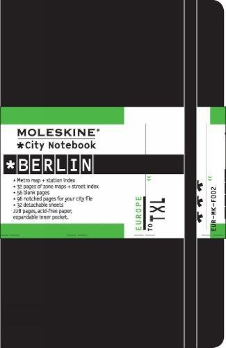 "Moleskine Journey City Notebook, Berlin, Hard Cover, Pocket (3.5"" x 5.5"") Plain/Blank, Black, 220 Pages"