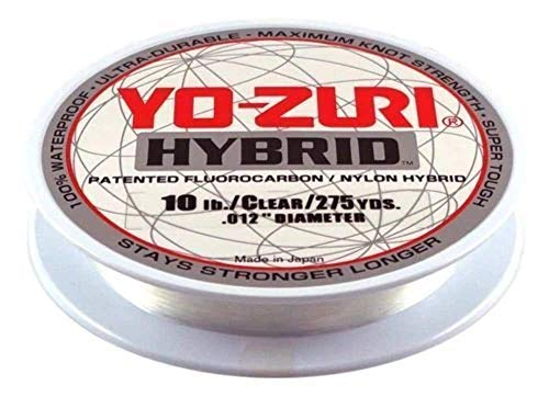 Yo-Zuri 275-Yard Hybrid Monofilament Fishing Line, Clear, 10-Pound