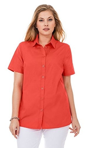 Sheego Damen 1/2-Arm Bluse, Rot (korallrot), 48
