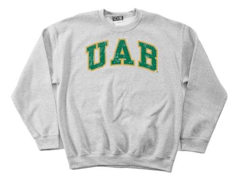 Alabama Birmingham Blazers 50/50 Blended 8-Ounce Vintage Arch Crewneck Sweatshirt, Large, Sport Grey