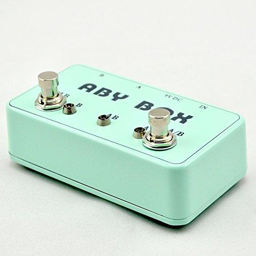 NEW Bass guitar ABY mini seletor combiner footswich AB box pedal guitarra true bypass light Blue