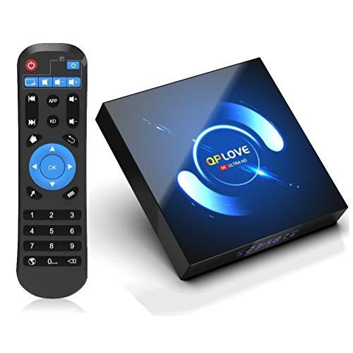 Android TV Box 10.0, QPLOVE Q6 Android TV Box 4GB RAM 128GB ROM H616 Quad Core Cortex-A53 Support 6K...