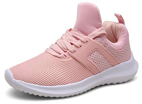 XKMON Donna Uomo Scarpe da Ginnastica Respirabile Sneakers Fitness Running Scarpe Sportive Corsa,XZ626-pink-EU38