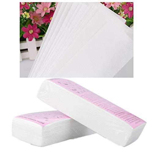 100Pcs / Set bande epilation bande cire épilation bandes de cire dépilatoire à usage unique professionnel Épilation Outil épilatoire papier non-tissés épilateur femmes cire bande de papier pour le