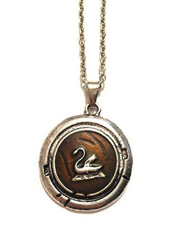 giulyscreations Emma Swan - Collar con colgante de cisne de metal, sin níquel, con medalla de una vez en la serie de TV con animes, para cosplay