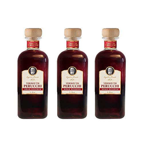 Vermouth Perucchi Gran Reserva Dorado – Pack 3 botellas – Elaborado en España – 15% Alcohol – Crianza media de 3 años por metodo solera – Selección Vins&Co – 1000 ml