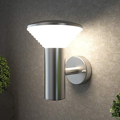 NBHANYUAN Lighting® LED Buitenlamp Wandlamp Buiten met Bewegingssensor Roestvrij Staal voor Patio, Veranda 3000K Warm Licht Netvoeding 220-240V IP44 [Energieklasse A +]