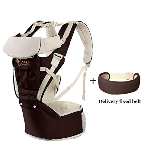 360 Ergonomic Baby Carrier Soft Baby Sling Adapt to Infant Hiking Backpack Carrier for Best Baby Gift-Brown