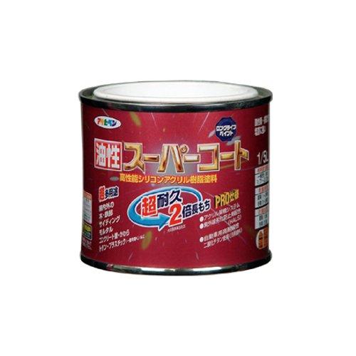 アサヒペン 油性スーパーコート 1/5L 黄色