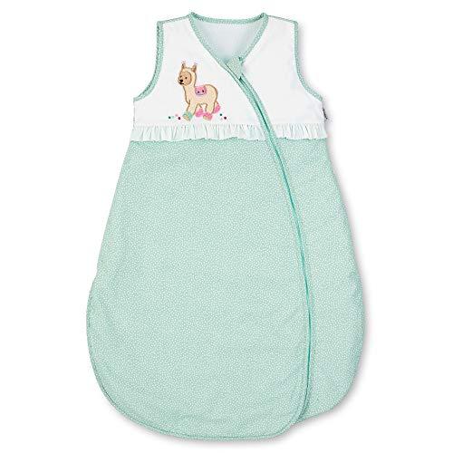 Sterntaler Sommer-Schlafsack Kuschelzoo für Kleinkinder, Reißverschluss, Größe: 90, Mintgrün