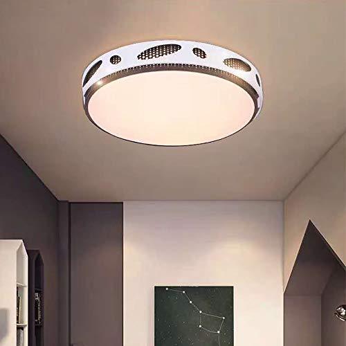 KK Timo Lámpara de techo moderna simple lámpara redonda dormitorio lámpara led sala de estar geometría doble cara hueco hierro hogar lámpara