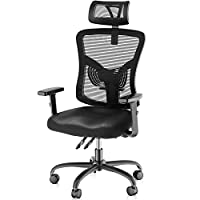 ERGONOMIC DESIGN:The ergonomic office chair backrest mimics the shape of the human spine, providing perfect support for your back and neck, allowing you to maintain the correct sitting posture and ease pressure & pain on the back for everyday use. NU...