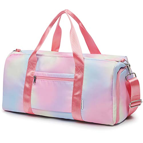 FITMYFAVO Duffel Bag for Girls Travel Weekender Bag Overnight Dance Duffle Bag with Shoes Compartment Wet Pocket (XL)