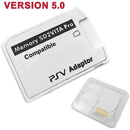 SODIAL Versione 5.0 2VITA per PS Vita Memory TF Card per Psvita Game Card PSV 1000/2000 Adattatore 3.60 Sistema Micro- Card R15