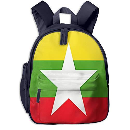 Kinderrucksack Kleinkind Jungen Mädchen Kindergartentasche Birma Myanmar Flagge Backpack Schultasche Rucksack