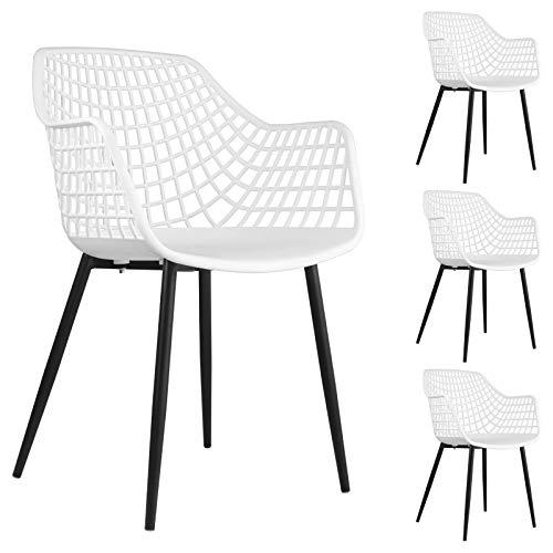 IDIMEX Esszimmerstuhl Lucia im Retro Design, Stühle Küchenstuhl Essstühle Stuhl mit Armlehne,...