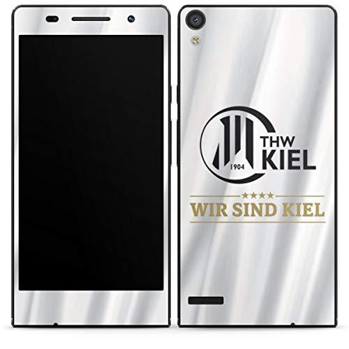 DeinDesign Folie kompatibel mit Huawei Ascend P6 Aufkleber Skin aus Vinyl-Folie THW Kiel Handball Offizielles Lizenzprodukt