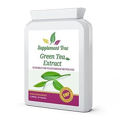 Green Tea Extract 12,480mg 90 Capsules | High Strength Antioxidant | Rich in Bioflavanoids | Weight Loss Fat Burner | UK Manufactured Vegans Friendly