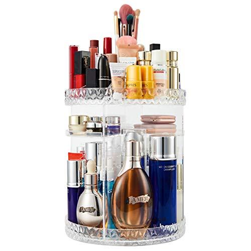 Makeup Organizer, 360 Rotating Makeup Organizer, 7 Adjustable Layers Large Capacity Cosmetics Organizer, Multi Function AcrylicTransparent Make up Organizer, for Bedroom and Dressing Table Organizer