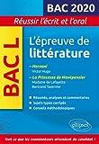 L'épreuve de littérature Bac 2020. Hernani, Victor Hugo. La princesse de Montpensier, Madame de Lafayette / Bertrand Tavernier