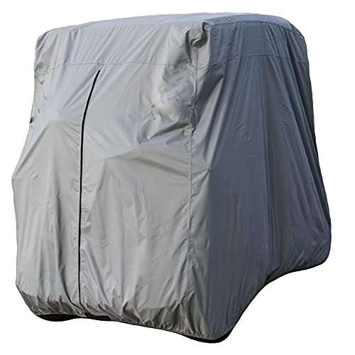Lmeison 2 Passenger Golf Cart Cover Waterproof Golf Cart Cover Fits EZ GO, Club Car and Yamaha, Dustproof and Durable, Grey
