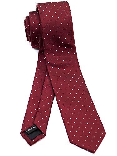 [ダブリューアンドエム] エクストラ ナロータイ 5cm 幅 細 ネクタイ 洗濯 可能 ピン ドット 水玉 模様 柄 ...