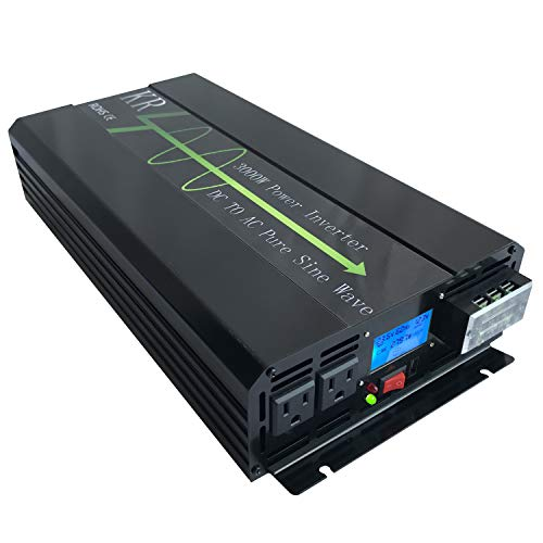 KRXNY 3000W 24V DC to 120V AC 60HZ Pure Sine Wave Solar Power Inverter Converter Off Grid with LCD Display
