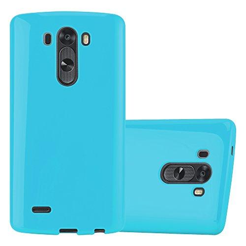 Cadorabo Funda para LG G3 en Jelly Azul Claro - Cubierta Proteccíon de Silicona TPU Delgada e Flexible con Antichoque - Gel Case Cover Carcasa Ligera