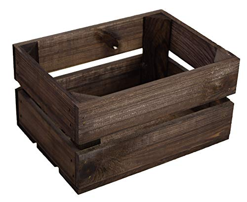 Kistenkolli Altes Land kleine geflammte Kiste Frieda Maße ca 30x22x16cm Weinkiste Aufbewahrungskiste Geschenkekiste Ablageregal (1er Set Frieda dunkel) - 2