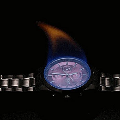 『ZDTech 腕時計 クロノグラフ デイト クォーツムーブメント 海外モデル メンズ ウォッチ (ブラック)』の7枚目の画像