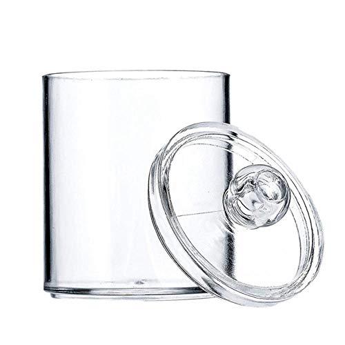 YEZINB Dispensador Botes de boticario Soporte de baño Recipiente de Almacenamiento Tarro de acrílico de plástico Transparente para Bola de algodón, hisopo de algodón, Puntas Q, algodón, Transparente