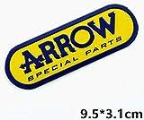 Art Design Pegatina Arrow Placa de Adhesivo Aluminio semirrígido para Olla de Escape de Alta Temperatura + 180 ° C Vinilo Laminado Auto Moto Scooter Coche