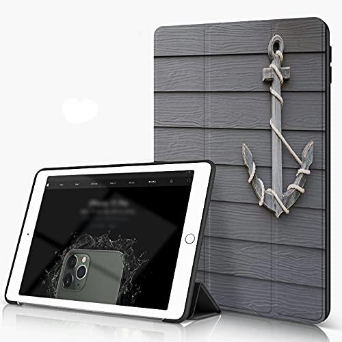 She Charm Carcasa para iPad 10.2 Inch, iPad Air 7.ª Generación,Ancla de Madera sobre Fondo de Pared (2),Incluye Soporte magnético y Funda para Dormir/Despertar