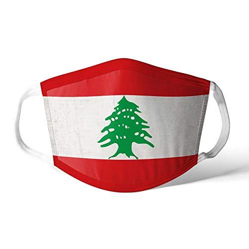 M&schutz Maske Stoffmaske Mittel Asien Flagge Libanon/Libanesisch Wiederverwendbar Waschbar Weiches Baumwollgefühl Polyester Fabrik