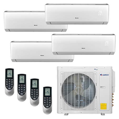 Gree MULTI30CLIV401-30,000 BTU Multi21+ Quad-Zone Wall Mount Mini Split Air Conditioner Heat Pump 208-230V (9-9-9-12)