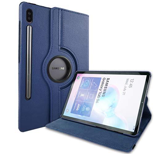 Lobwerk Schutzhülle für Samsung Galaxy Tab S6 T860 10.5 Zoll Hülle Flip Hülle 360° Drehbar Blau