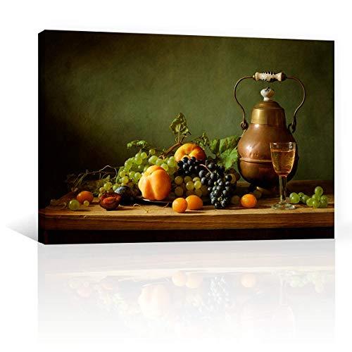 CANVAS REVOLUTION | Cuadro Decorativo Canvas Lienzo Impresión | Bodegones | Frutas Y Laton Sobre Mesa | Diferentes Dimensiones Tamaños Medidas Disponibles | Decoración De...